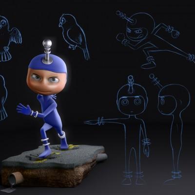 Personagem 3D – Bivolt