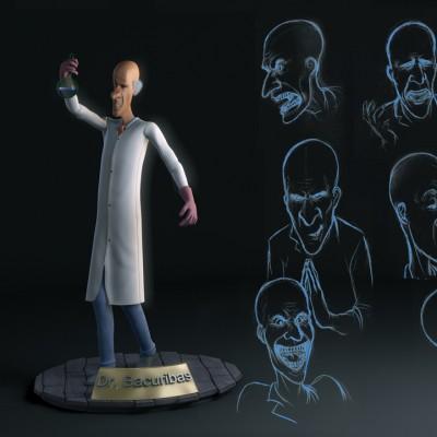 Personagem 3D – Cientista