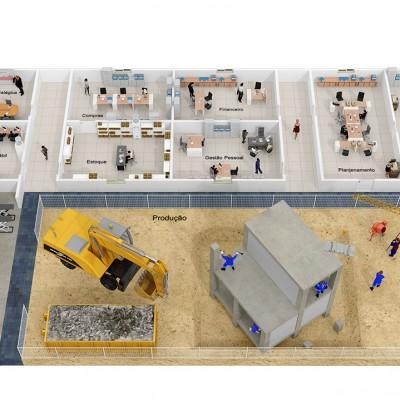 Maquete Eletrônica 3D – Grupo Fortes